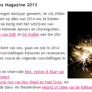 Love-ism in the best of Dans Magazine 2013